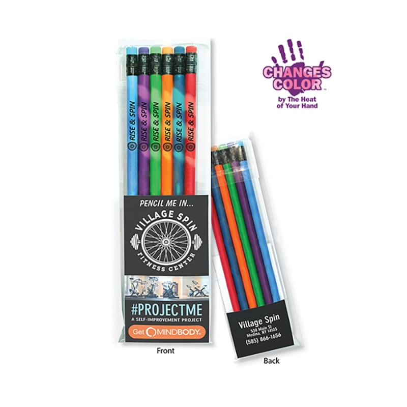 Create-A-Pack Pencil Set of 6 - Mood Pencil w/ Colored Eraser