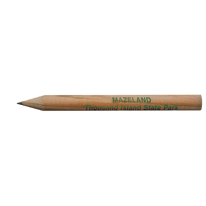 Round Natural Finish Golf Pencils