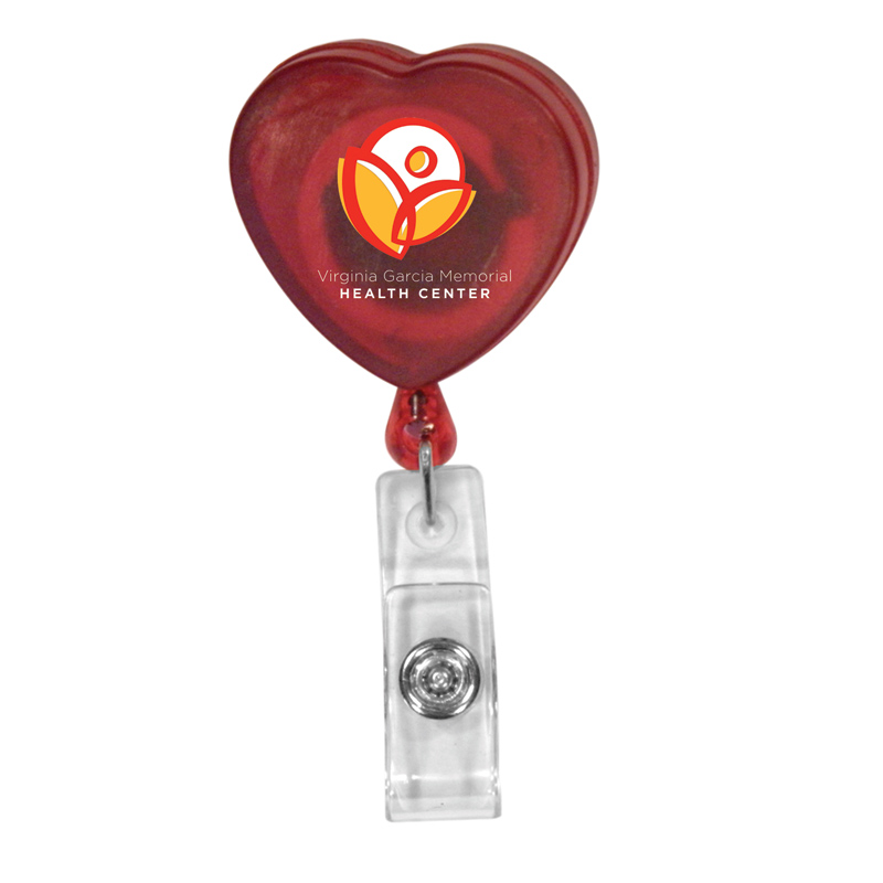 Heart Badge Holder,Full Color Digital