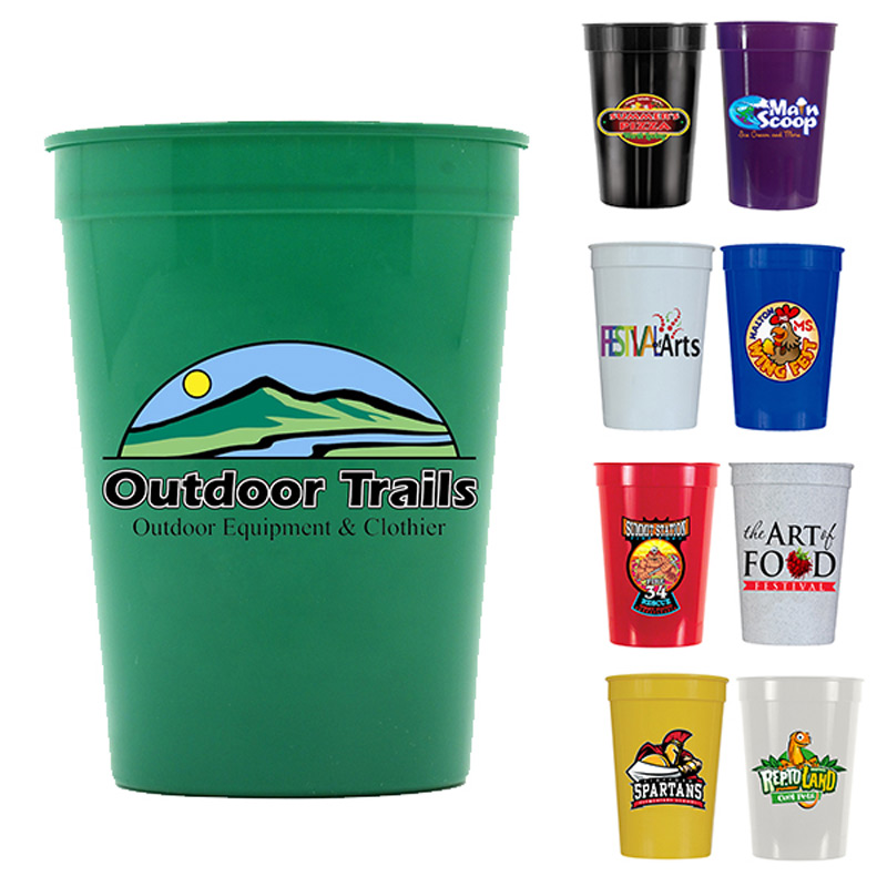 12 oz. Smooth Stadium Cup, Full Color Digital