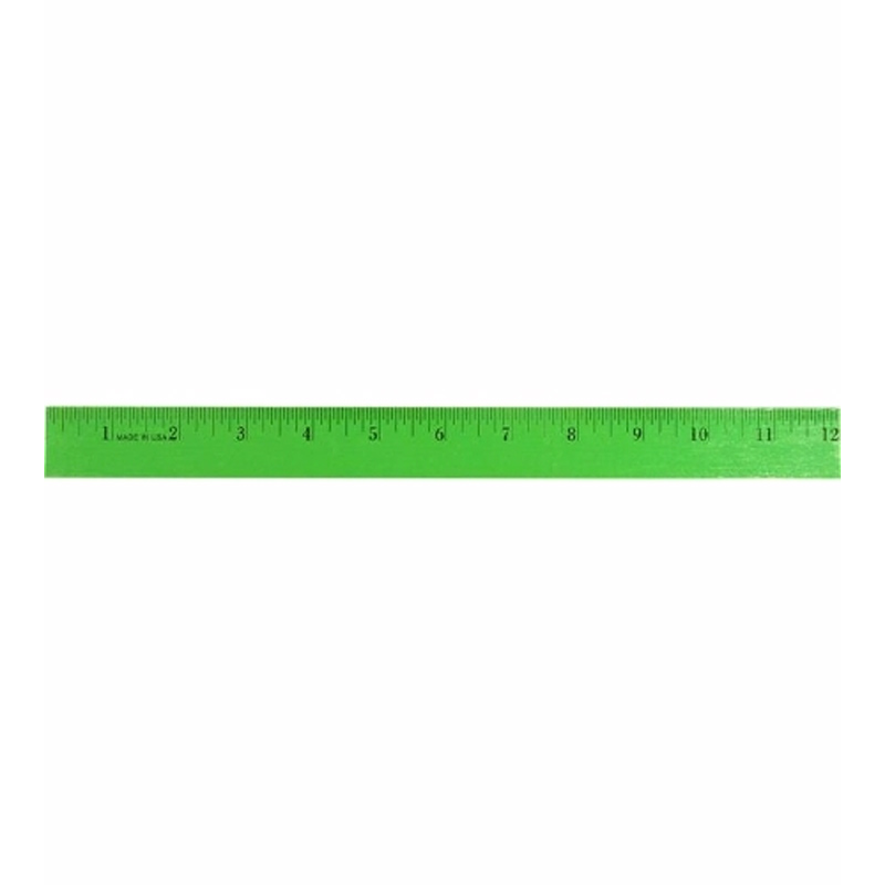 "12"" Enamel Wood Ruler, Full Color Digital"