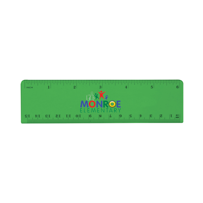 "6"" Plastic Ruler (front), Full Color Digital"