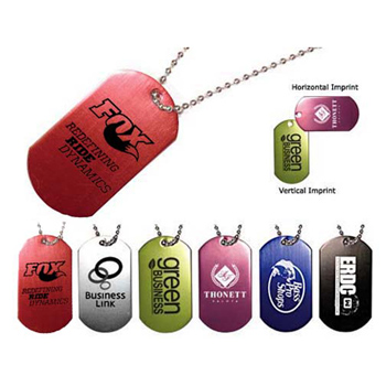 "Dog Tag with 23 1/2"" Ball Chain"
