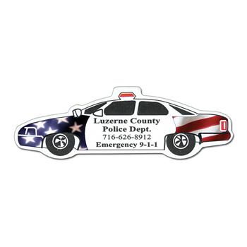 Full Color Digital Stock Shaped Magnets - Police Car