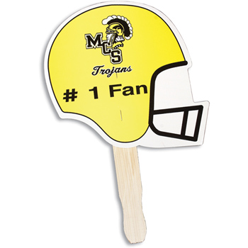 Football Shaped Hand Fan