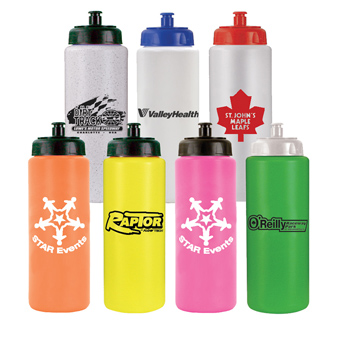 32 oz. Sports Bottle with Push 'n Pull Cap - BPA Free