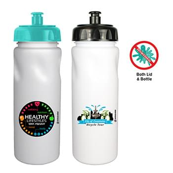 24 Oz. Antimicrobial Cycle Bottle with Push 'n Pull Cap, Full Color Digital