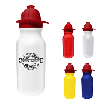 20 oz. Value Cycle Bottle with Fireman Helmet Push 'n Pull Cap
