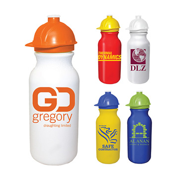 20oz. Value Cycle Bottle w/ Safety Helmet Push'nPull Cap