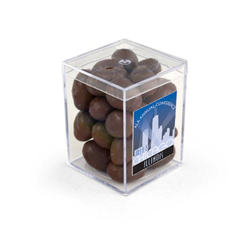 "3"" Geo Container - Chocolate Covered Almonds"