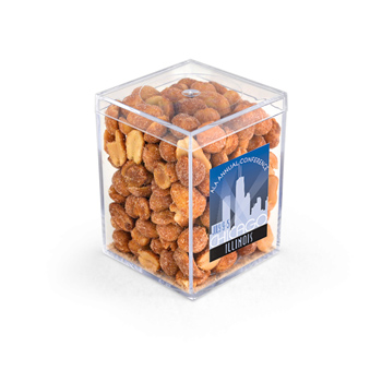 "3"" Geo Container - Honey Roasted Peanuts, Full Color Digital"