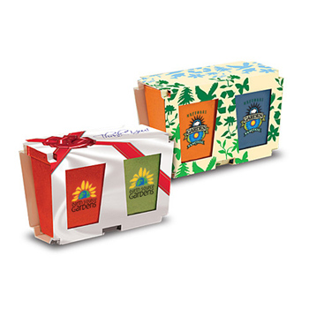 Promo Planter, 2-Pack Planter Set, Full Color Digital