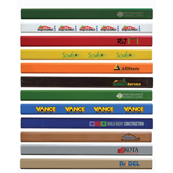 Enamel Finish Carpenter Pencils, Full Color Digital