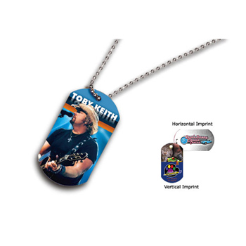 "Dog Tag , 23-1/2"" Ball Chain with Full Color Digital Imprinting"