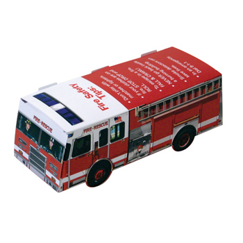 Foldable Die-cut Fire Truck,Full Color Digital