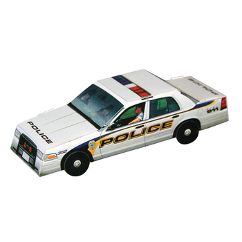 Foldable Die-cut Police Car,Full Color Digital