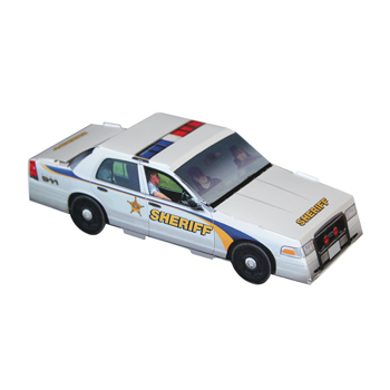 Foldable Die-cut Sheriff Car,Full Color Digital