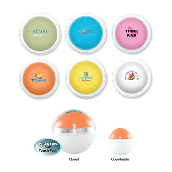 Halcyon® Round Colored Lip Balm, Full Color Digital