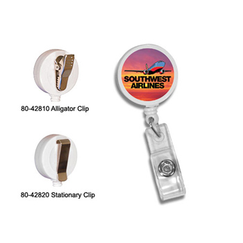 Round Badge Holder W/alligator Clip,Full Color Digital
