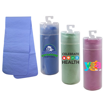 Cooling Towel with Tube, Full Color Digital