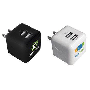 Double Port Wall Charger, Full Color Digital