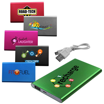 4000 mAh Slim Power Bank, Full Color Digital