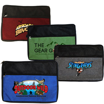 Double Zipper Accessory Bag, Full Color Digital