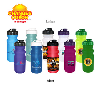 20 oz. Sun Fun Cycle Bottle with Flip Top Cap, Full Color Digital Direct