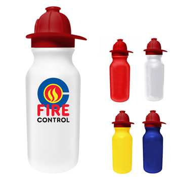 20 oz. Value Cycle Bottle with Fire Helmet Push 'n Pull Cap, Full Color Digital