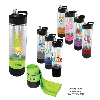 17 oz. Tritan Bottle with Cooling Towel, Full Color DIgital