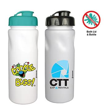 24 Oz. Antimicrobial Cycle Bottle with Flip Top Cap, Full Color Digital