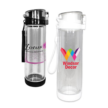 20 oz. Double Wall Tritan/Glass Bottle, Full Color Digital