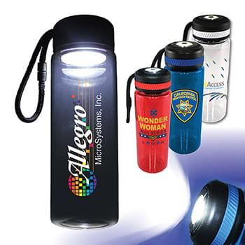 25 oz. Tritan™ Bottle with Flashlight Cap, Full Color Digital