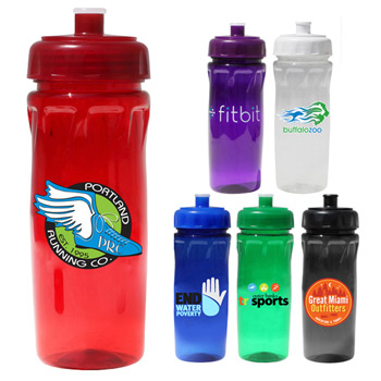 "18 oz. Poly-Saver PET Bottle with Push ""n Pull Cap, Full Color Digital"