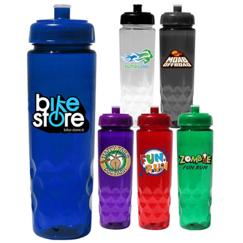 24 oz. Poly-Saver PET Bottle with Push 'n Pull Cap, Full Color Digital