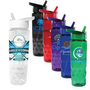 24 oz. Poly-Saver PET Bottle with Straw Cap, Full Color Digital