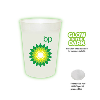 12 oz. Nite Glow Stadium Cup, Full Color Digital