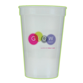 17 Oz. Nite-glow Stadium Cup (1 Side), Full Color Digital