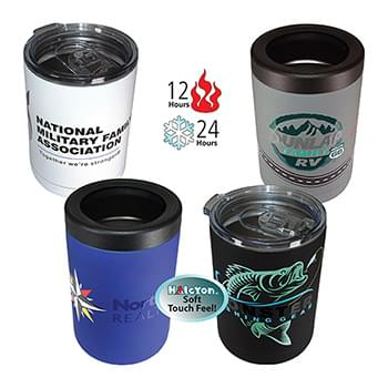 12 oz. Halcyon® Tumbler/Can Cooler,  FCD with Varnish or Varnish Only