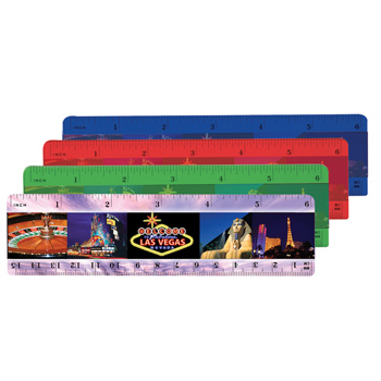 "6"" Plastic Ruler (back), Full Color Digital"