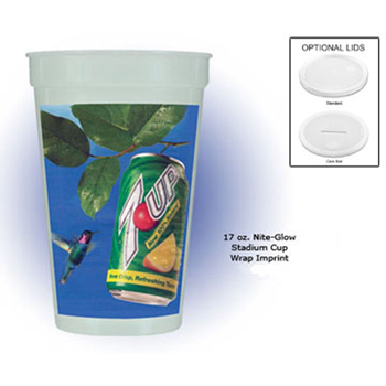17 oz.  Nite-Glow Stadium Cup (Wrap), Full Color Digital