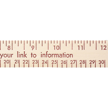 "12"" Natural Finish Wood Ruler - English And Metric Scale"