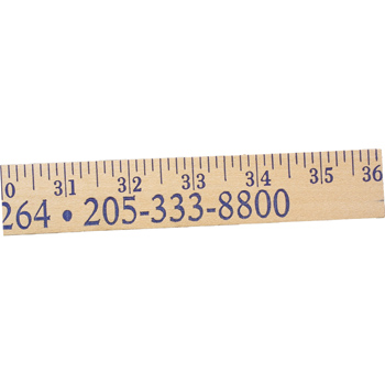 Heavy-Duty Yardsticks - Natural Finish