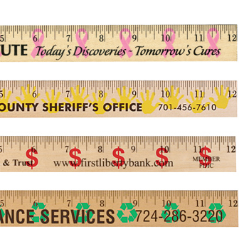 Ribbon Background Rulers - Clear Lacquer Finish